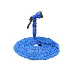 """Expandable 75ft Garden Hose Pipe Flexible NON-KINK Spray Gun + ½""""to ¼""""Adapter"""