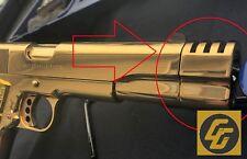 24k gold plated 1911 barel Compensator 45 acp 38 super custom gun parts part new