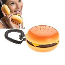 Analog Juno Hamburger Telephone Cheeseburger Burger Home Desktop Corded Phone