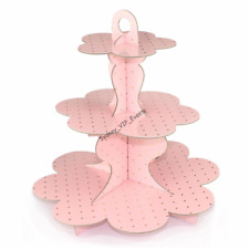 3 TIER PINK GOLD POLKADOT CAKE STAND TREE BABY SHOWER PARTY SWEET HOLDER CUPCAKE