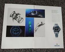 Original 2016 ROLEX Oyster Deepsea watch print Ad . Ephemera