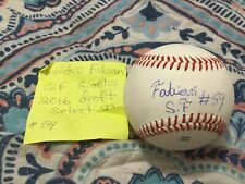 SANDRO FABIAN SIGNED ARIZONA LEAGUE BASEBALL/ SAN FRANCISCO GIANTS 2016 DRAFT PI