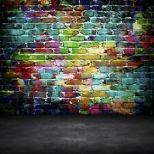 Photography Backdrops Vinyl Photo Seamless Background 10x10Ft Colorful Vintage