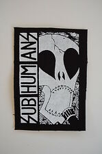 "Subhumans Cloth Patch Sew On Badge Punk Rock Music Adicts Approx 5""X3.5"" (CP21)"
