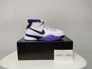 Men's Nike Kobe 1 Protro 81 Points White Purple Basketball Shoes