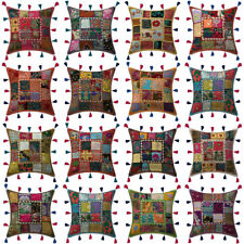 Indian Patchwork Cotton Cushion Cover Decorative Sofa Bedding Pillowcase Covers
