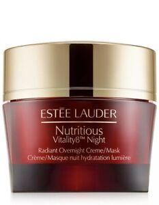 Estee Lauder Nutritious Vitality8 Night Radiant Overnight Creme/Mask 1.7oz NIB