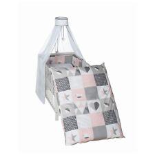 Roba Kinderbettgarnitur Himmelset für Kinderbett 3-tlg. Happy Patch rosa