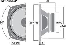 Monacor SPH-165KEP Hi-Fi-Tiefmitteltöner 60 W 8 Ω
