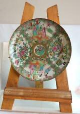 More details for antique late 1800 qing dynasty famille rose hand painted porcelain plate