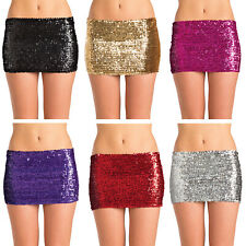 Sequin Mini Skirt Low Rise Metallic Dance Rave Costume BW1677