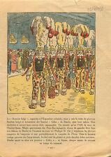 Gille Carnaval de Belgique Les Gilles du carnaval de Binche. 1931 ILLUSTRATION