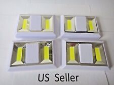 4pk COB LED Wall Lighted Switch Wireless Night Light Muli-use Battery Included