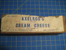 Axelrod's Cream Cheese Label OVER a Terminal Brand Wood Wooden Box PRIMITIVE