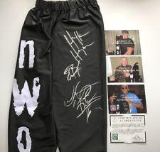 WWE WCW Hogan Rodman Bischoff signé NWO Replica Collants Avec COA et photos