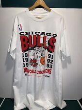Vintage 90s Chicago Bulls 1993 Champions T Shirt NBA Jordan Snoopy Sz OSFA
