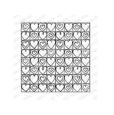 HEART GRID-Impression Obsession Cling Mount Rubber Stamp-Zenspirations-Zentangle
