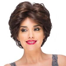 100% Real Hair! Fashion Short Dark Brown Capless Fluffy Wave Wig Hair For Women