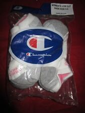 6 Pair Champion Womens Medium Low Cut Duo Dry Socks 5-9