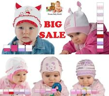 SALE Cotton hat for little girl SPRING / AUTUMN size 0 - 18 months GIRLS TIE UP
