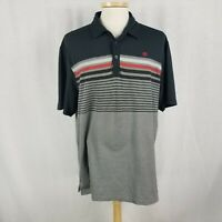 Travis Mathew Mens XL Golf Shirt Gray Cotton Blend Polo Short Sleeve