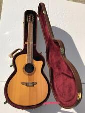 Luna Guitars Muse Series Folk Cutaway Nylon Acoustic-Electric Guitar with Case