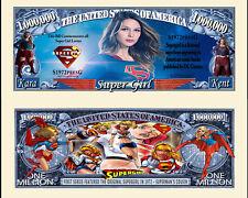 SUPERGIRL - BILLET 1 MILLION DOLLAR US! serie Super Heros SUPERMAN Comics BD dc