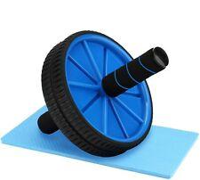 Ruota allenamento muscoli addominali con maniglie imbottite AB wheel palestra