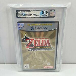VGA GRADED 80+ NM Legend of Zelda The Windwaker Nintendo Gamecube Game AUS