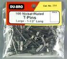 "Dubro T-Pins 1-1/2 (100)"" DUB254"