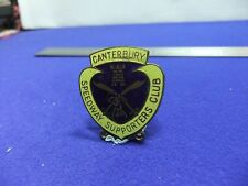 vtg badge speedway supporters club canterbury 1960s 70s ? motor sport cycle