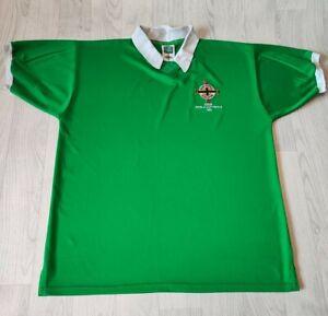 RARE RETRO NORTHERN IRELAND 1982 FOOTBALL SHIRT JERSEY TOP SCORE DRAW REPLICA XL