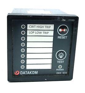 Datacom DKG-605 ALARM Annuciator 8 channel Annuciator SN.0605039358