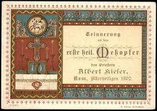 Erinnerung an das erste heilige Meßopfer des Priesters Albert Kiefer, ROM 1902