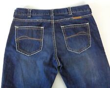 B Tuff 40 x 32 ZAC Jeans Relaxed Leg Boot Cut Dark Wash Thick Stitch 100% Cotton