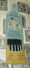 Vintage Set HUMP Hairpins in original package circa 1920's
