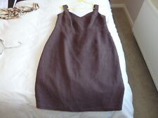 Bravissimo Brown Linen  Stylist  Dress Size 16 RC