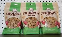 3 Bags Nutro Crunchy Apple Dog Treats 10 oz Each Non GMO, 100% Natural 10/2021