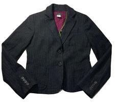 J Crew Blazer Size 0 Striped Charcoal Wool