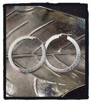 Boucles D'oreilles Créoles ciselées Argent Massif 925/1000 Bijoux Femme
