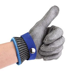 ❤ Stechschutzhandschuhe Kettenhandschuh Edelstahl Sicherheits-Handschuh Metzger