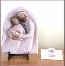 HOLY FAMILY PLAQUE & STAND FROM WILLOW TREE® ANGELS FREE U.S. SHIPPING