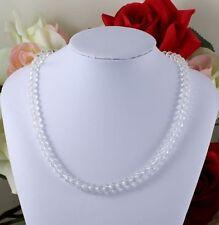 Handgefertigte Modeschmuck-Halsketten & -Anhänger aus Edelstahl mit Kristall