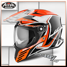 CASCO MOTO INTEGRALE IN FIBRA AIROH COMMANDER CARBON ORANGE GLOSS TAGLIA L