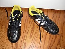 """Youth/Boy""""ADIDAS""""Black/White Logo Clits Sneakers Baseball Soccer Shoes Size 5.5Y"""