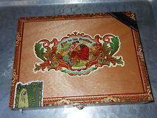 "Wood CIGAR BOX ""My Father Cigars"" Flor de las Antillas Decal Handmade Nicaragua"