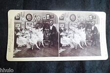 STB542 Scène de genre Maitre à danser Français danse photo STEREO albumen