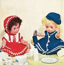 "Dolls clothes knitting & crochet pattern for 13""-14"" Baby doll. ( V Doll 151)"