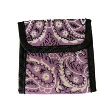 NEW! Wallet Cotton Bandana Fabric Bifold Wallet with Velcro Closure Purple Color