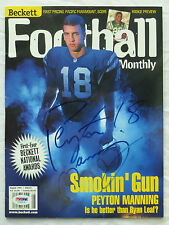 PEYTON MANNING ROOKIE AUTOGRAPH SIGNED FOOTBALL 1998 BECKETT BRONCOS COLTS PSA